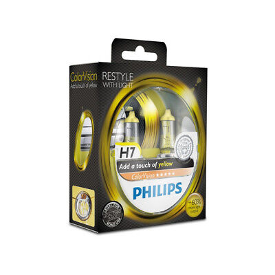 Philips H7 ColorVision Yellow Gelb +60% Set 2x H7 12V 55W 12972CVPYS2