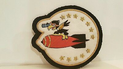 USAF BULLION 75th Bomb Squadron Color Patch 4 1/2 x 3 3/4 inches