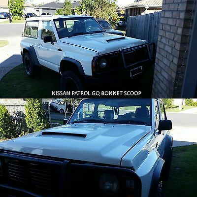 Bonnet Scoop Fitted To Nissan Patrol Gq