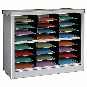 GRAINGER APPROVED Literature Organizer,30 In H,Tan, 5CRY1, Tan