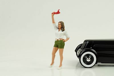 70`s Cool Girl Figurine Figurines Street Racing 1:18 AMERICAN DIORAMA NO CAR