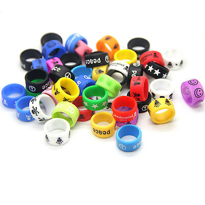 10 Rubber Silicone Vape Band Ring Protection for your Tank / MOD Glow Chic