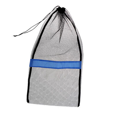 "Mesh Drawstring Bag for Dive Snorkel Mask Fin SCUBA Shell 31""x18"" Heavy Duty"