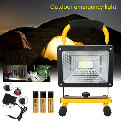 Portable Rechargeable 50W Work Light 36 LED Flood Spot Outdoor Hiking Lamp