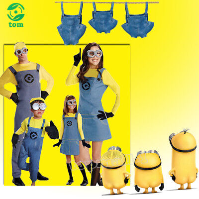 Boys Girls Adult Minions Dave Costume Despicable Me Halloween Fancy Dress Party