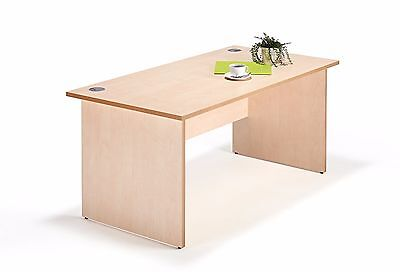 Maple Straight Panel End Office Desk