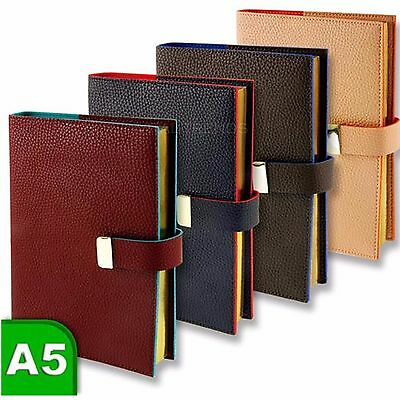A5 Faux Leather Lined Journal Paper Notebook Office Diary Book 380 Pages Pad New