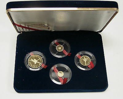 "Russia 1995 4 Coins Gold Proof Set Ballerina "" Sleeping Beauty"" With Box And Coa"