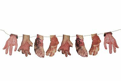 Halloween Garland Decoraion Door Banner Bloody Banner Body Parts