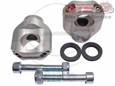 Klemmsatz Lenker silber 28MM bar riser clamps silver-Ducati Monster,ABS,Evo ABS