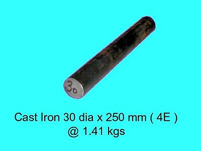 Cast Iron 30 dia x 250 mm ( 4E )-Lengths-Lathe-Mill-Steam-OG