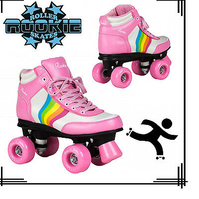 Rookie Forever V2 Vegan Retro Style Girls Jr Adult Roller Skates Rainbow Pink UK