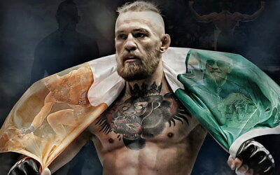 "021 Conor McGregor - UFC MMA Champion Fighter 38""x24"" Poster"