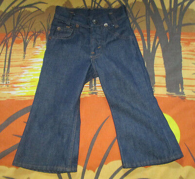rare vtg 70s ORANGE TAB BABY-SIZE LEVI'S JEANS pants BELLBOTTOMS flares MUST SEE