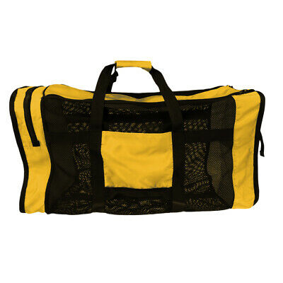 Scuba Dive Gear Diving Snorkeling Camp Canoe Kayak Mesh Shoulder Bag Yellow