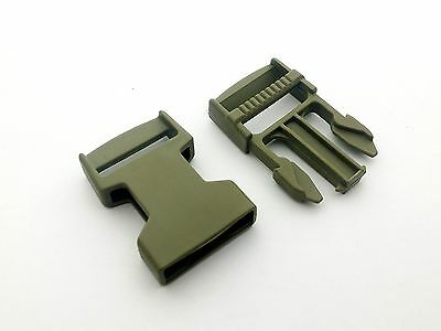 25mm Side release buckles clips. od green khaki - ITW FASTEX High Quality Nylon