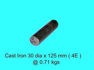 Cast Iron 30 dia x 125 mm ( 4E )-Lengths-Lathe-Mill-Steam-OG