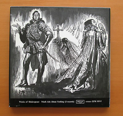 Shakespeare Much Ado About Nothing 3xLP Argo Stereo ZPR 183-5 (Box has tear)