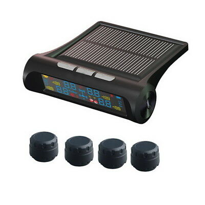 Vehicle Solar TPMS Tire Pressure Monitoring System USB Charging External Sensors