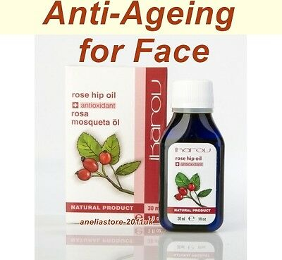 100% Pure Rosehip Seed Oil from Chile by Ikarov 30ml Anti-Ageing for Face & Hair