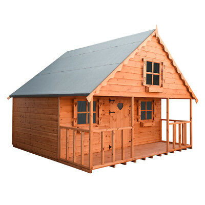 Shedrite 8X8 2 Storey Swiss Chalet Playhouse12Mm T&g Throughout