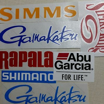 LOT of (7) Fishing Decals Fishing Stickers for Brand Lovers
