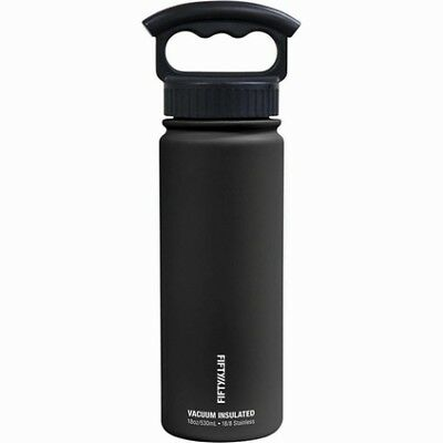 Fifty Fifty Insulated Drink Bottle 530ml - Matte Black