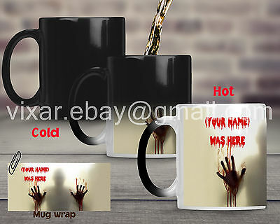 Personalised The Walking Dead magic Mug Cup Heat Reactive with your Name gift