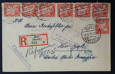 Rare 1925 Registered Cover Addressed To Mr.rockefeller Jr. In New York