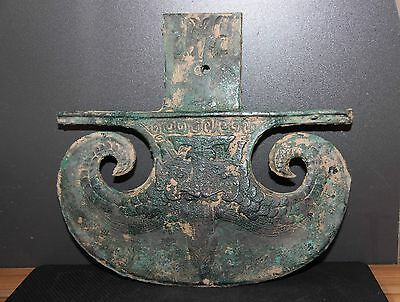 Chinese bronze weapon Axe Taotie vein battle Axe large size Weapon Axe