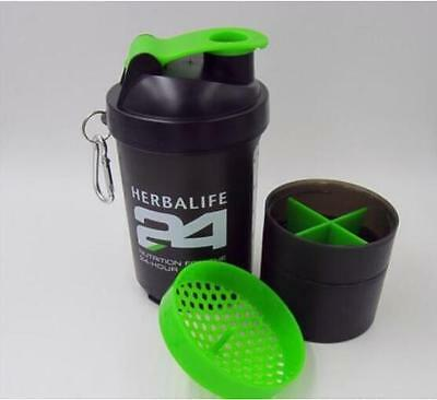 500ml 17OZ Herbalife 24 Sectional Water Bottle Cup Outdoor Sports Blender Shake