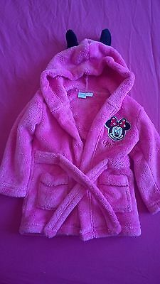 Pink Minnie Mouse Dressing Gown 6-12months
