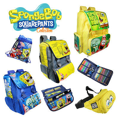 Spongebob School Backpack Kids Sports Swim Bag Pens Pencil Travel Case Rucksack