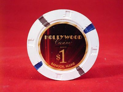 $1.00 Casino Chip   Hollywood Casino  Bangor  Maine new $1