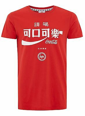 Just Hype Taiwan Coke Coca-Cola Mens T-Shirt Red Official Licensed  Rrp £25