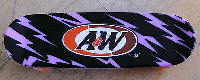 A & W Root Beer Skateboard Miniature Rare Collectible Restaurant Promo Item VG