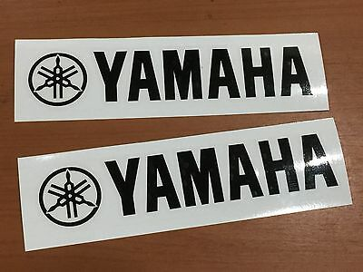 "2 x Yamaha Logo Vinyl Decal Sticker Motorcycle YZ YZF R1 Size 6""-12"" (No BG)"