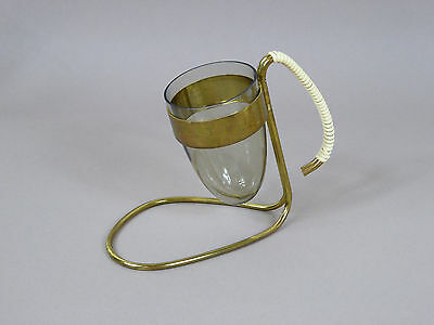 60er-Jahre Salzstangenhalter - Messing - Glas ★ 60s Saltsticks holder - brass