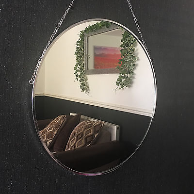 55cm Large Round Silver Mirror wall Hanging Mirror Dressing Table round Mirror