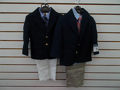 Infant & Toddler Boys Nautica $79.50-$89.50 4pc Navy Suits Size 24 Months - 4T/4
