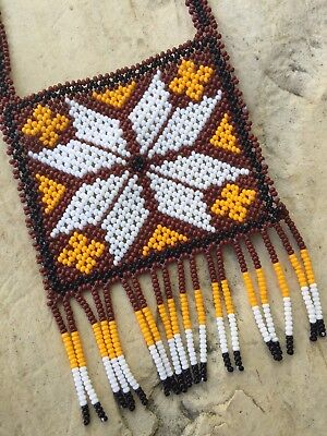 Mexican Huichol Tribal Native Necklace
