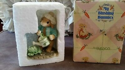 """Enesco my blushing bunnies """"Lettuce give thanks for friends"""" 1996"""