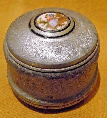 Vintage Music Box-For Powder Puff, Jewelry- Wind- Up Sprague??-Works Very Nicely