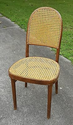 Vintage Estate Mid Century Thonet Bentwood Caned Wicker Side Chair