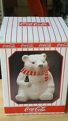 Coca Cola Bear Cookie Jar NEW
