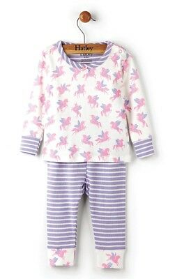 HATLEY Girls Winged Unicorns Toddler & Baby Mini Pyjamas Set Organic Cotton PJ's