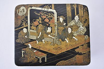 Japanese Lacquered in Gilt Box 19th Century Antique