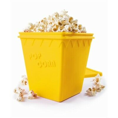 New Scullery Pop N Corn Microwave Popcorn Maker Yellow