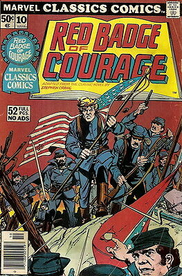 MARVEL CLASSICS COMICS. No. 10, 1976. THE RED BADGE OF COURAGE