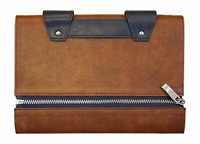 Mens Leather Journal - Handmade w/ Lined Pages Zipper Closure